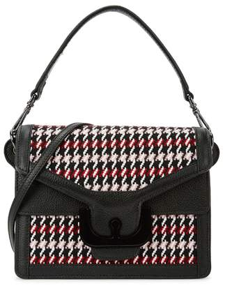 Coccinelle Ambrine Tweed And Leather Shoulder Bag