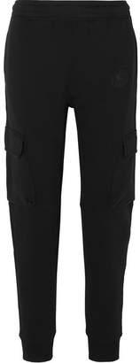 Burberry Appliquéd Cotton-jersey Track Pants - Black