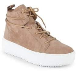 Giuseppe Zanotti Suede Mid-Top Sneakers