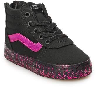 dfe5007906c Vans Ward Hi Zip Toddler Girls  Glitter Skate Shoes