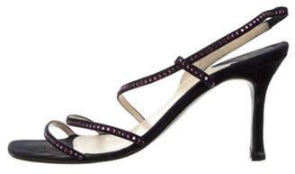 Chanel Embellished Slingback Sandals purple Embellished Slingback Sandals