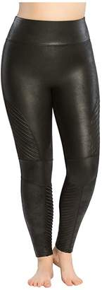 a9105c8a25c6c Spanx Plus Size Faux Leather Moto Leggings
