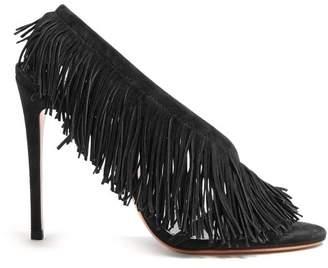 Aquazzura Apache 105 Suede Sandals - Womens - Black