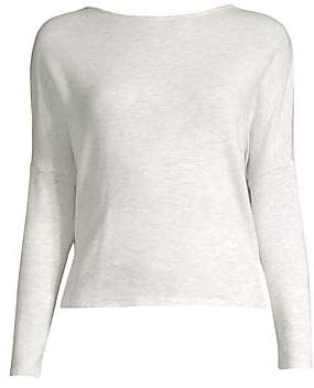 Monrow Women's Crossover Open Back Knit Sweater