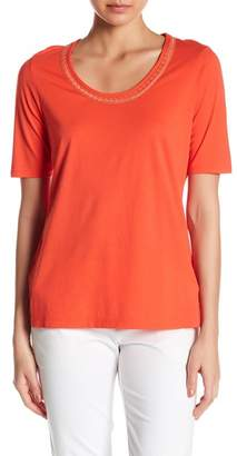 Tommy Bahama Seaport Embroidered Scoop Neck Tee