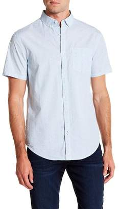 Original Penguin Short Sleeve Clipped Dobby Mic Classic Fit Shirt