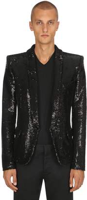 Balmain Pagodes Sequined Blazer