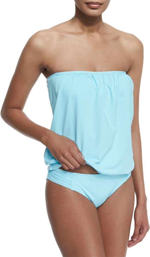 Tommy Bahama Solid Blouson Bandini Swim Top 3