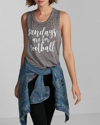 Express Sunday Football Burnout Muscle Tank
