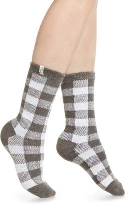 UGG Vanna Check Fleece Lined Socks