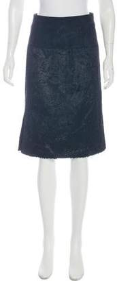Alexander Wang Suede-Accented Knee-Length Skirt w/ Tags