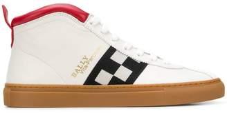 Bally checkered panel hi-top sneakers