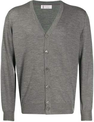 Brunello Cucinelli slim-fit knitted cardigan