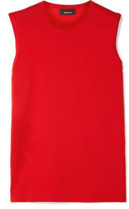 Akris Pointelle-knit Cotton Top - Red
