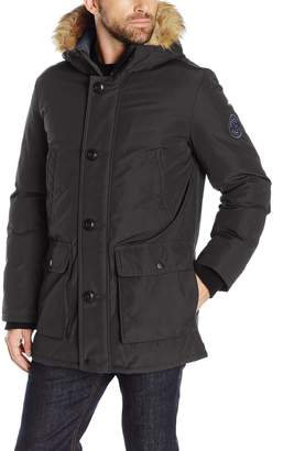 Tommy Hilfiger Men's Ultra Loft Insulated Arctic Cloth Snorkel with Removable Faux Fur Hood