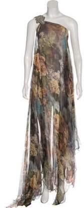 Philipp Plein Silk Maxi Dress Green Silk Maxi Dress
