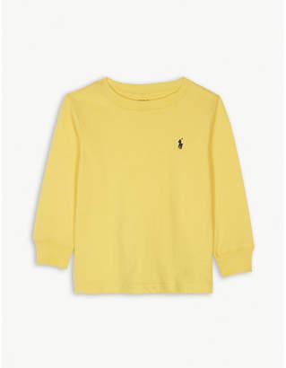 Ralph Lauren Logo cotton long-sleeved top 2-7 years