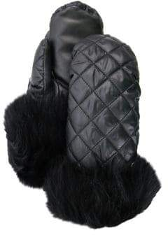 UGG Quilted All-Weather Shearling-Cuff Mittens