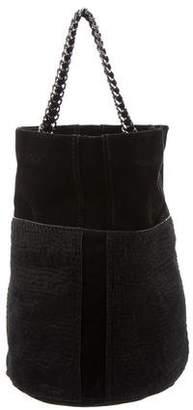 Ramy Brook Ponyhair-Trimmed Bucket Bag