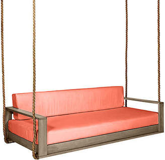 Southern Komfort Bed Swings Percy Porch Swing - Driftwood/Orange Sunbrella