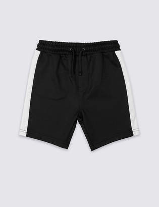 Marks and Spencer Cotton Rich Tricot Shorts (3-16 Years)