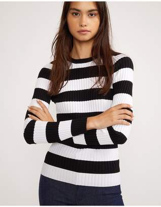 Cynthia Rowley Haven Striped Ribbed Sweater