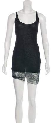 Raquel Allegra Lace-Trimmed Mini Dress
