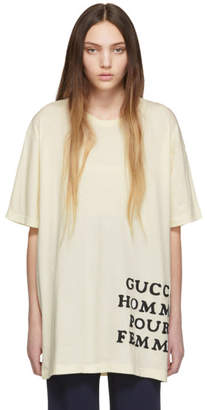 Gucci (グッチ) - Gucci アイボリー Homme Pour Femme T シャツ