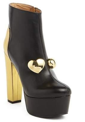 Love Moschino Block Heel Platform Bootie