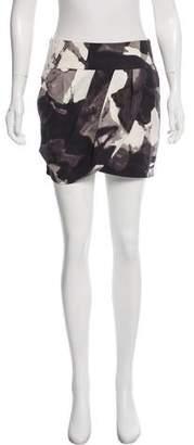 Under.ligne By Doo.ri Printed Silk Skirt