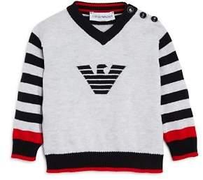Armani Junior Boys' Striped Logo Sweater - Baby