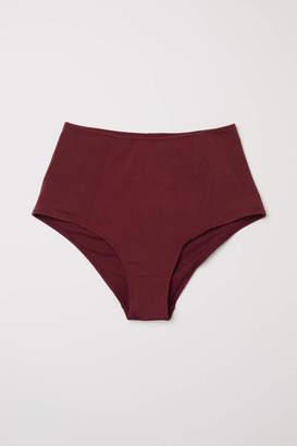 H&M Bikini Bottoms High waist - Burgundy - Women