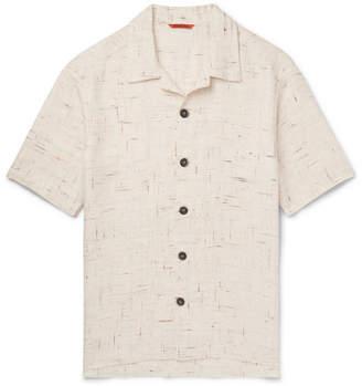 Barena Camp-Collar Mélange Linen-Blend Shirt