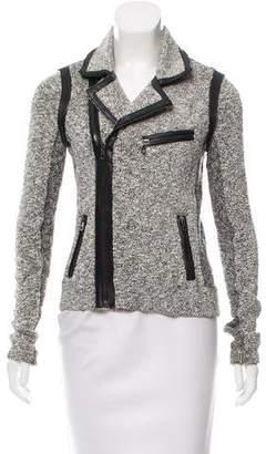 Rag & Bone Leather-Trimmed Tweed Jacket