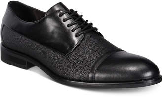 Alfani Men's Preston Textured Cap-Toe Oxfords, Created for Macy's Men's Shoes
