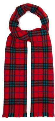 Burberry Vintage Check Cashmere Scarf - Mens - Red