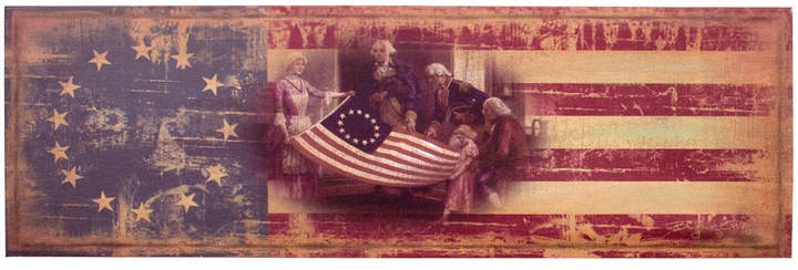 Grand Old Flag Wrapped Canvas
