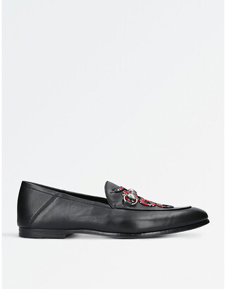 Gucci Kingsnake leather loafers