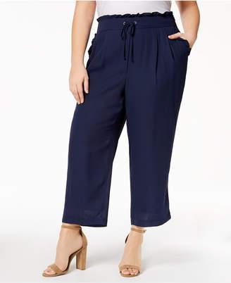 John Paul Richard Plus Size Cropped Drawstring-Waist Pants