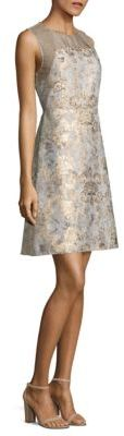 Elie Tahari Floral Brocade A-Line Dress $448 thestylecure.com