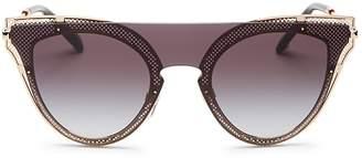 Valentino Cat Eye Shield Sunglasses, 135mm
