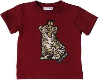 Dolce & Gabbana Cotton Jersey Baby Leopard Print T-Shirt