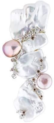 Kai-Yin Lo 18K Gold Pearl and Diamond Brooch