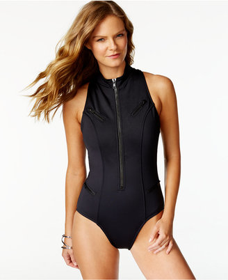 Magicsuit Zip-Front Racerback One-Piece Swimsuit $186 thestylecure.com