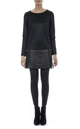 Hotel Particulier Black Leather Dress