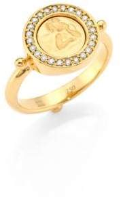 Temple St. Clair Angel Diamond& 18K Yellow Gold Ring