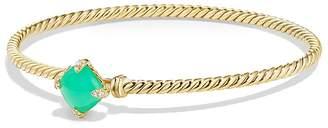 David Yurman Ch'telaine Bracelet with Chrysoprase and Diamonds in 18K Gold