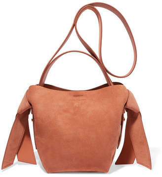 Acne Studios Musubi Mini Knotted Suede Shoulder Bag - Tan