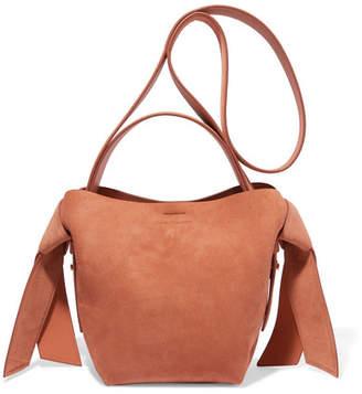 Acne Studios Musubi Mini Knotted Suede Shoulder Bag - Tan