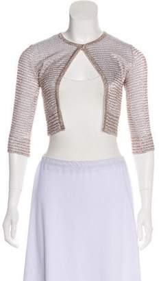 Alaia Metallic Knit Cardigan